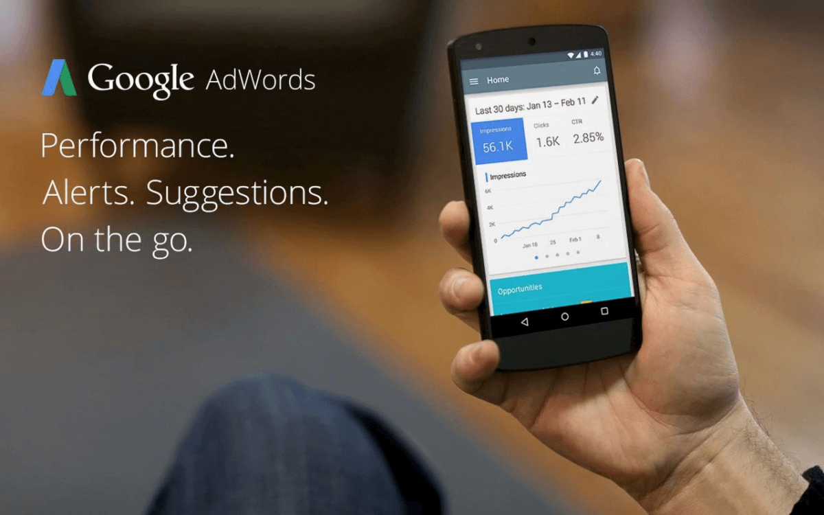 Adwords on iphone